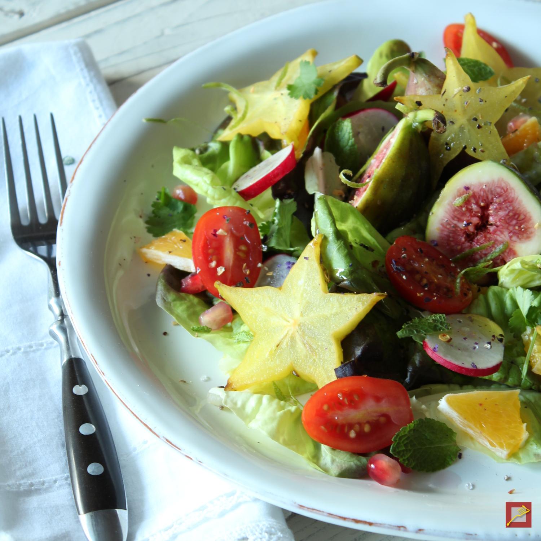 Chef\'s Handyman Sternfrucht und Feigen im Salat | Chef\'s Handyman ...