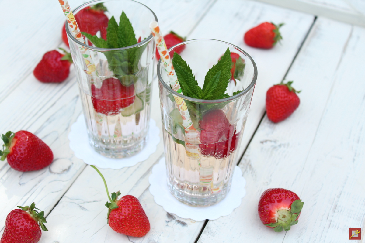 Strawberries on stage! Red, sweet and fruity, my favorite recipes