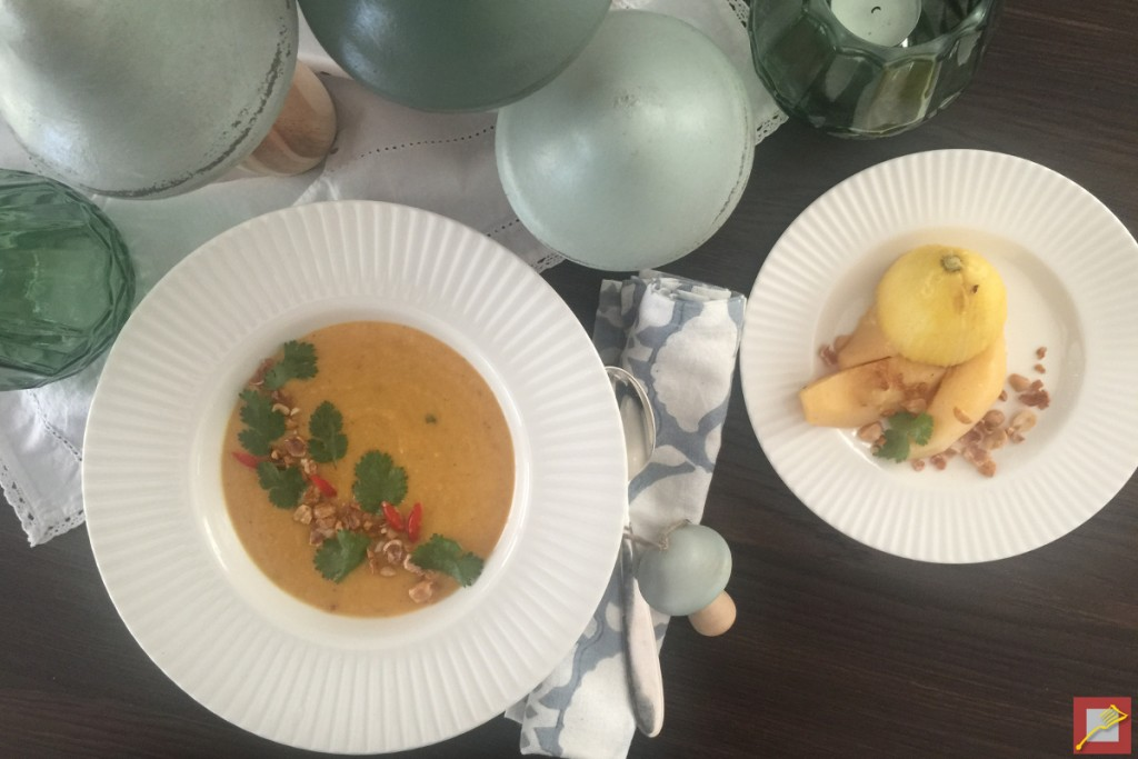 Sweet Potoato Soup with Quinces