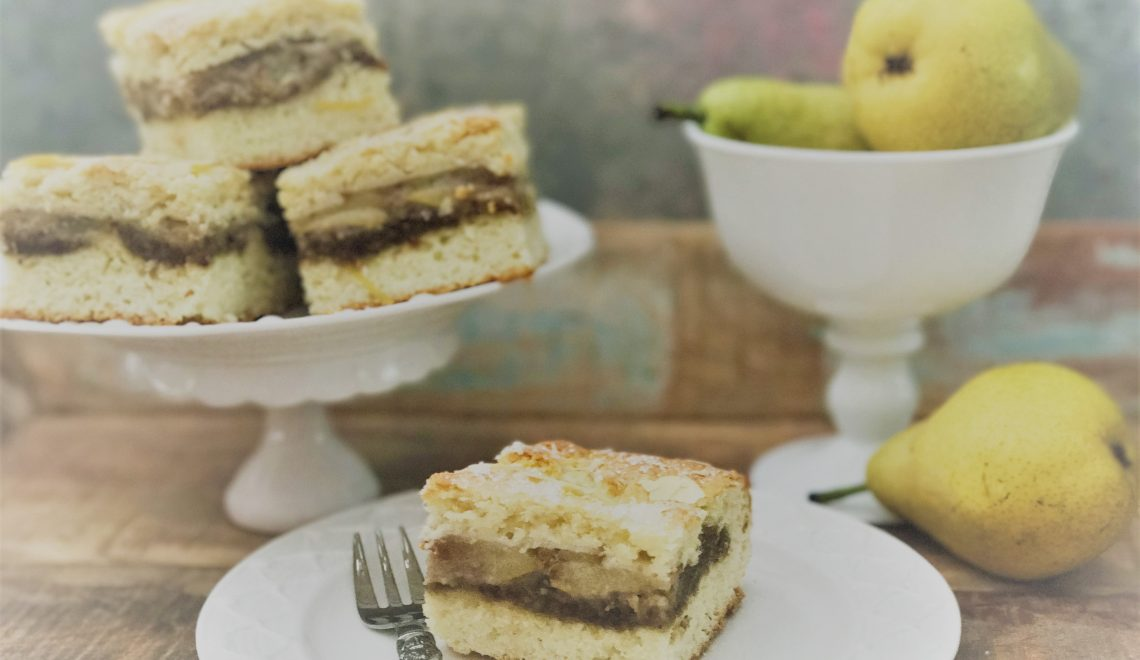 Pear squares – Indian summer is calling
