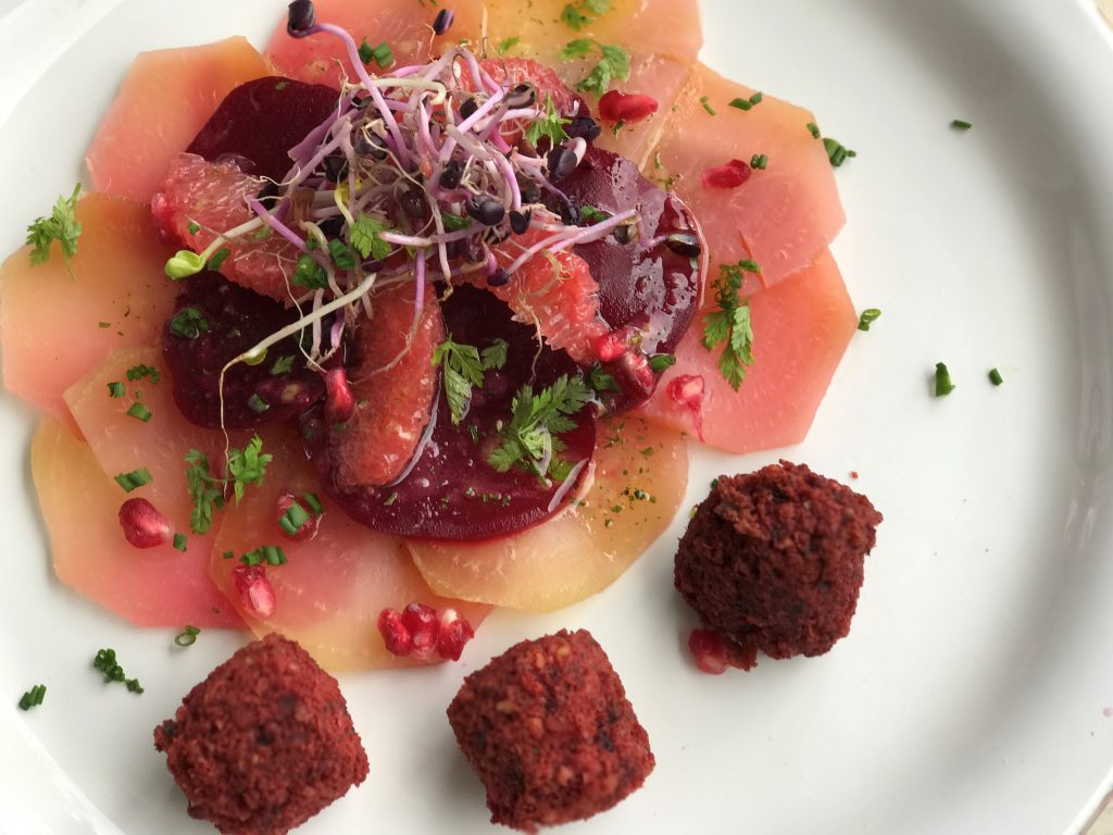 Chef's Handyman, beets with grapefruits