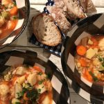 Chef's Handyman, hearty soup with vegetables and orzo pasta
