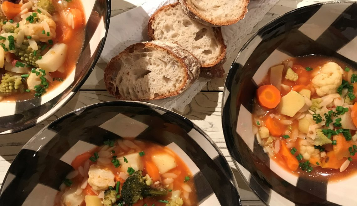 Hearty and al dente, soup with a twist