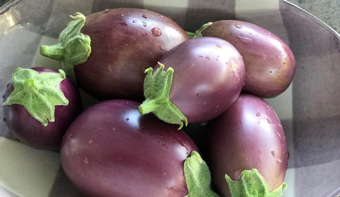 Eggplants from the own garden, just delicious