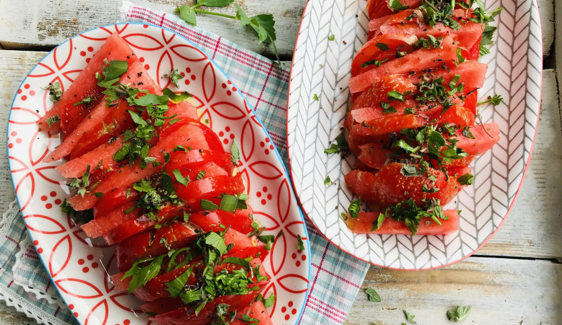 Chef's Handyman, Tomato Salad with Watermelon