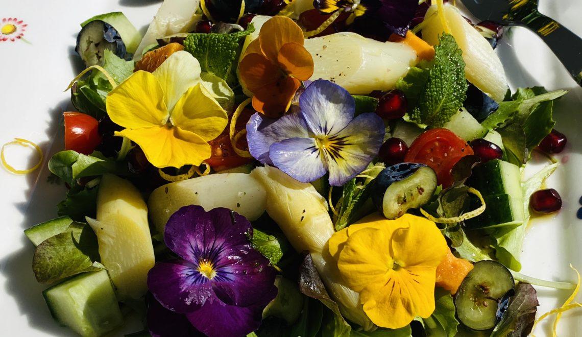 Asparagus Salad with Flowers