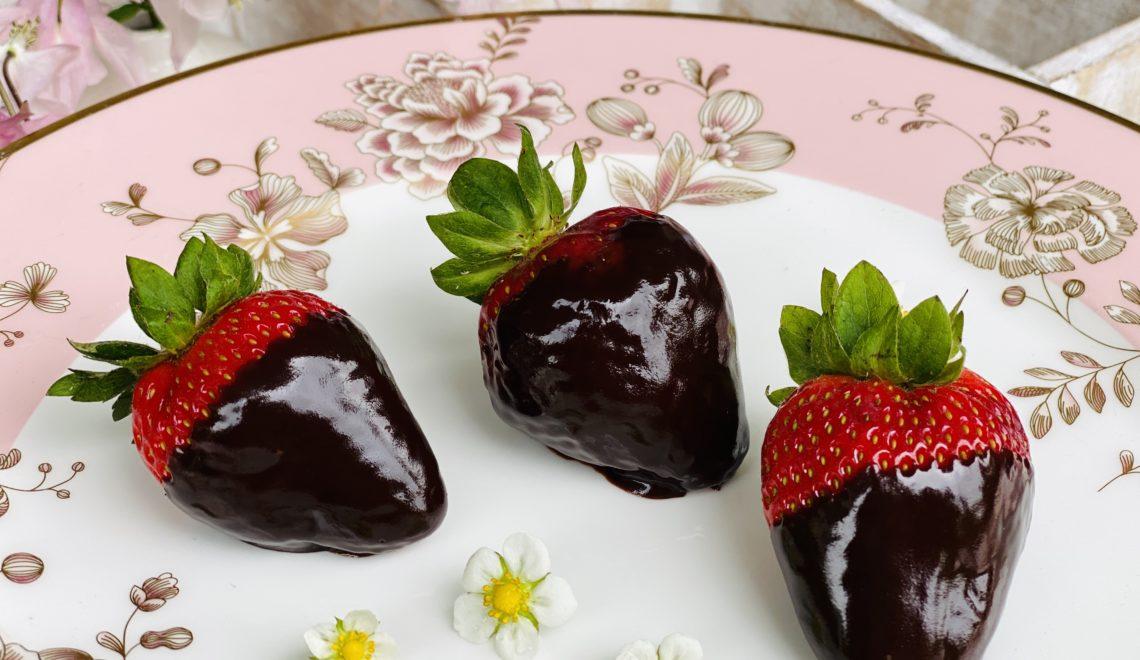 Schokolade-Erdbeeren